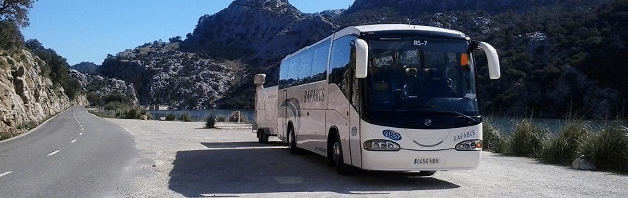 Transporte und Transfers für Veranstaltungen auf Mallorca.